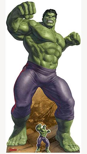 Avengers The Incredible Hulk Puny Banner Lifesize Cardboard Cutout 190cm