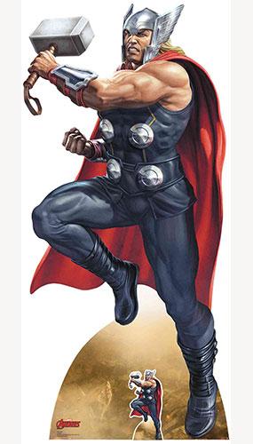Avengers Thor Mjolnir Enchanted War Hammer Lifesize Cardboard Cutout 191cm