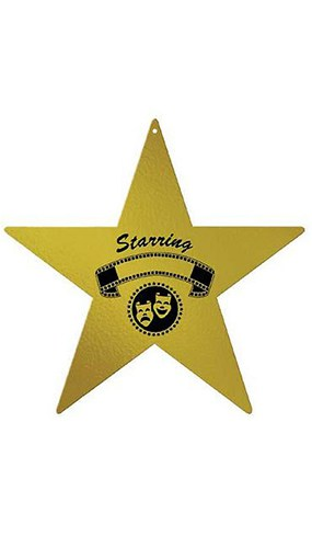 Awards Night Star Foil Decorative Cutout - 12 Inches / 30cm Product Image