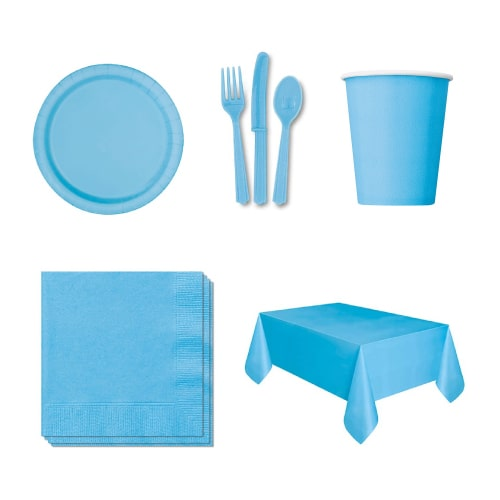 Baby Blue 54 Person Party Pack