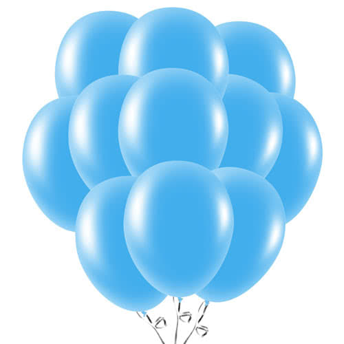 Baby Blue Latex Balloons 23cm / 9Inch - Pack of 50 Product Image