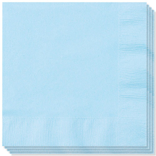 Baby Blue Napkins 40cm 2Ply - Pack of 100 Product Image