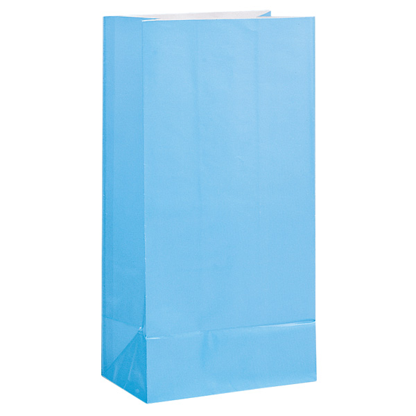 Baby Blue Paper Party Bag - Pack of 12