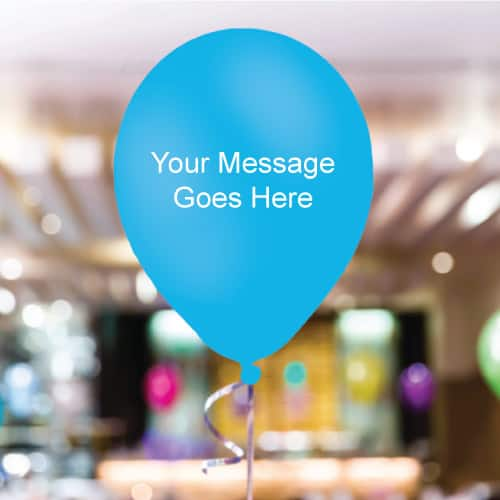 Baby-Blue Personalised 11 Inch Latex - 35 Balloons