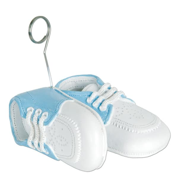 Baby Blue Shoes Balloons/Photo Holder - 3 Inches / 8cm Product Image