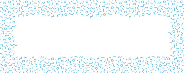 Baby Blue Squiggle Design Small Personalised Banner - 4ft x 2ft