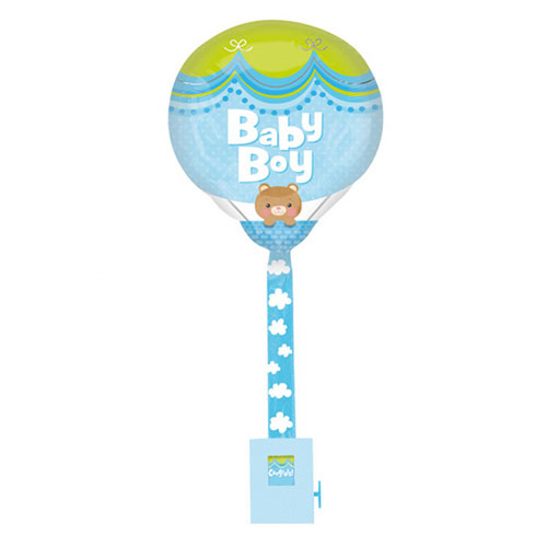 Baby Boy Foil Helium Balloon Uplifter 81cm / 32 in Product Image