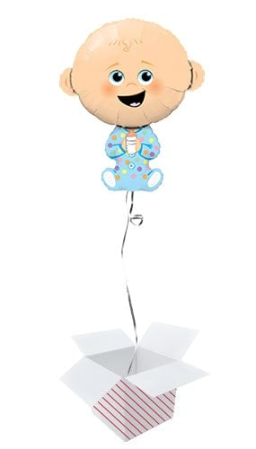 Baby Boy Helium Foil Giant Qualatex Balloon - Inflated Balloon in a Box Product Image