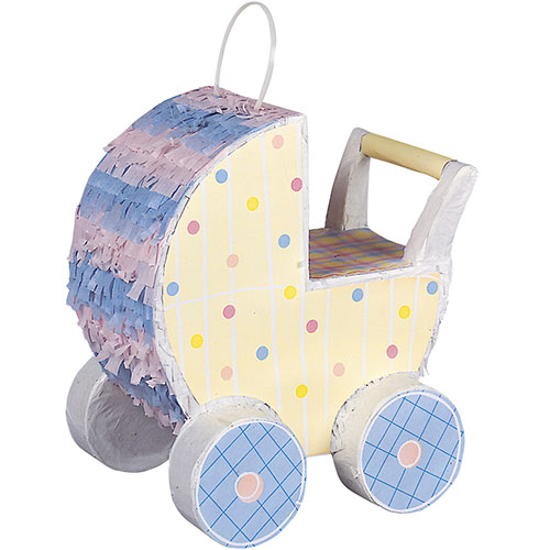 Baby Carriage Pastel Baby Shower Pinata Decoration Product Image