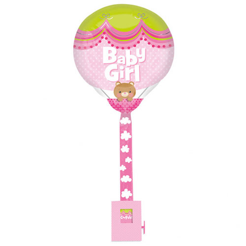 Baby Girl Foil Helium Balloon Uplifter 81cm / 32 in Product Image