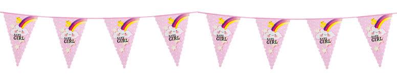 Baby Girl Plastic Bunting 6m