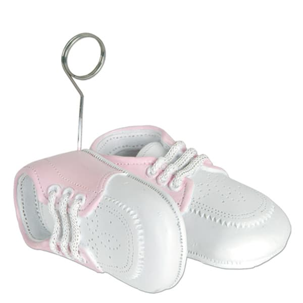 Baby Pink Shoes Balloons/Photo Holder - 3 Inches / 8cm