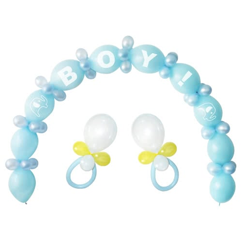 Blue Baby Shower Linking Balloon Kit - Pack of 64 Product Image