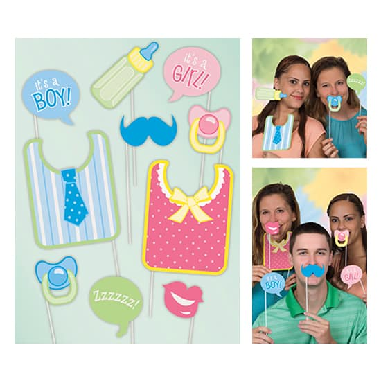 Baby Shower Photo Prop Accessories - Pack of 10 Product Image