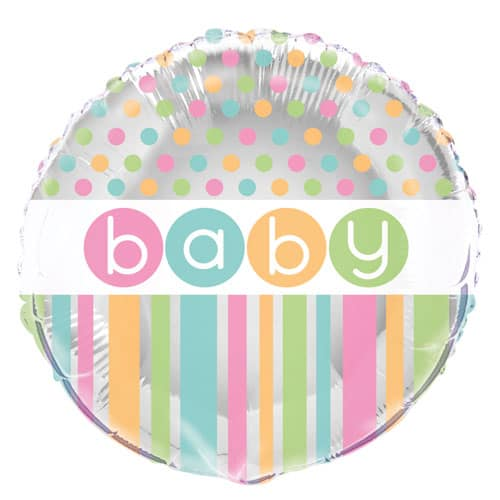 Baby Shower Round Foil Helium Balloon 46cm / 18Inch Product Image