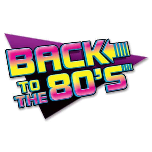 Back To The 80's Wall Sign - 24 Inches / 62cm Product Image