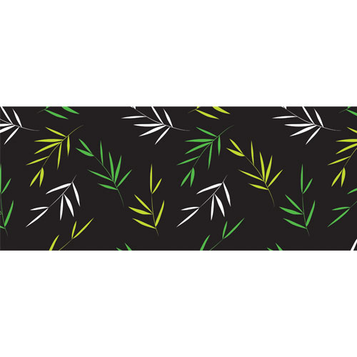 Bamboo Leaves PVC Party Sign Decoration 60cm x 25cm