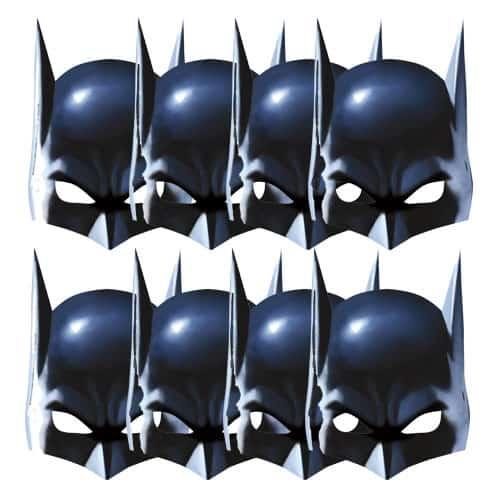 Batman Cardboard Face Masks - Pack of 8