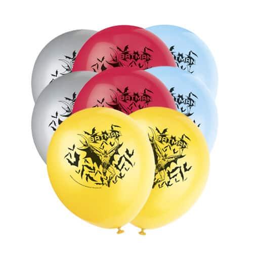 Batman Biodegradable Latex Balloons 30cm - Pack of 8 Product Image