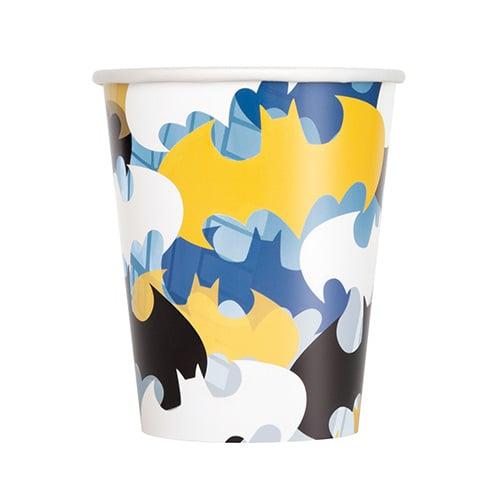 Batman Paper Cups 270ml - Pack of 8