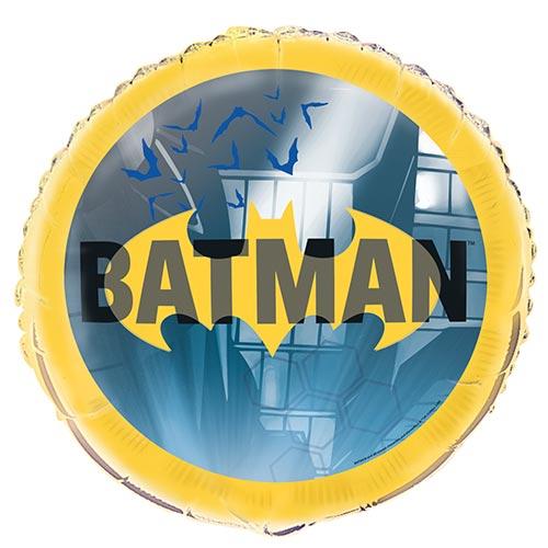 Batman Round Foil Helium Balloon 46cm / 18 in