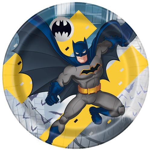 Batman Round Paper Plates 22cm - Pack of 8