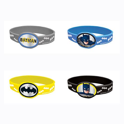 Batman Rubber Bracelets - Pack of 4 Product Image