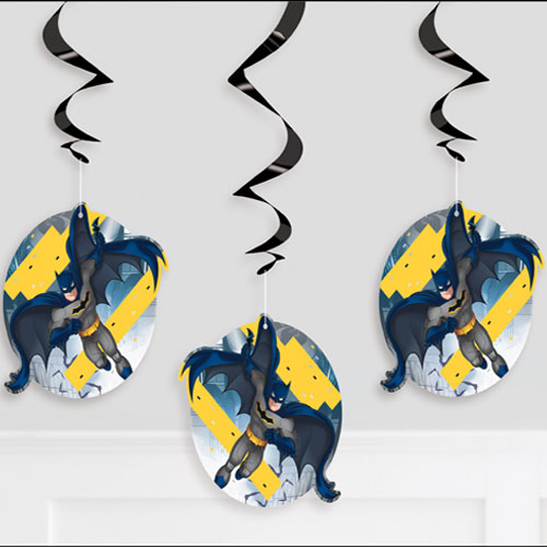 Batman Swirl Hanging Decorations - Pack of 3 Product Image
