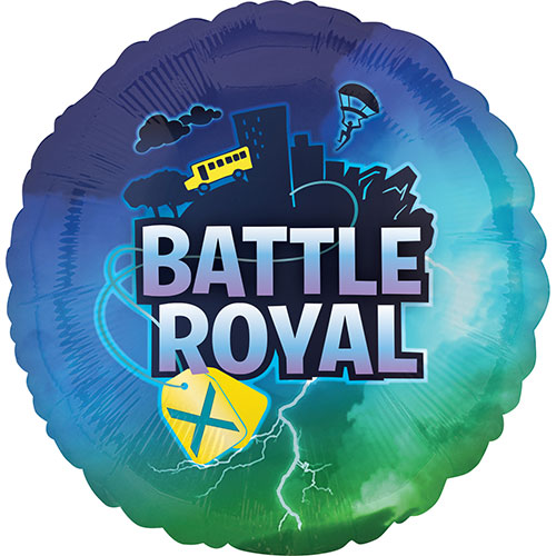 Battle Royal Round Foil Helium Balloon 43cm / 17 in
