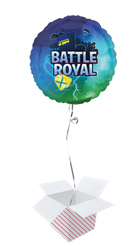 Battle Royal Round Foil Helium Balloon - Inflated Balloon in a Box Product Image