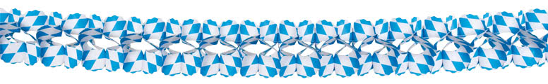 Oktoberfest Bavaria Paper Garland Decoration 4m Product Gallery Image