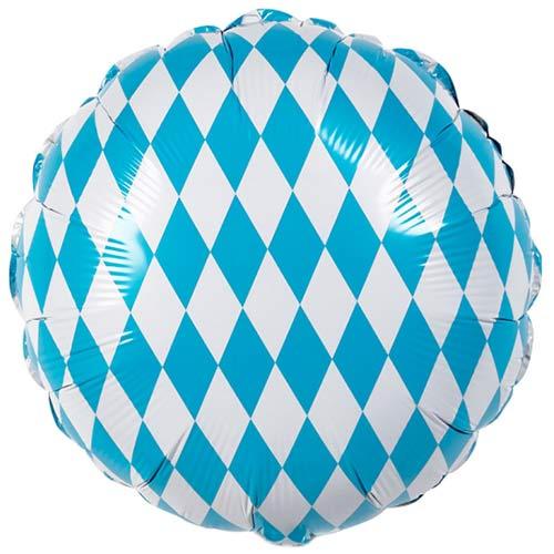 Bavaria Oktoberfest Round Foil Helium Balloon 45cm / 18 in Product Image