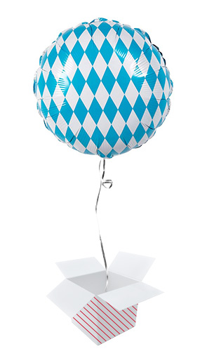 Bavaria Oktoberfest Round Foil Helium Balloon - Inflated Balloon in a Box Product Image