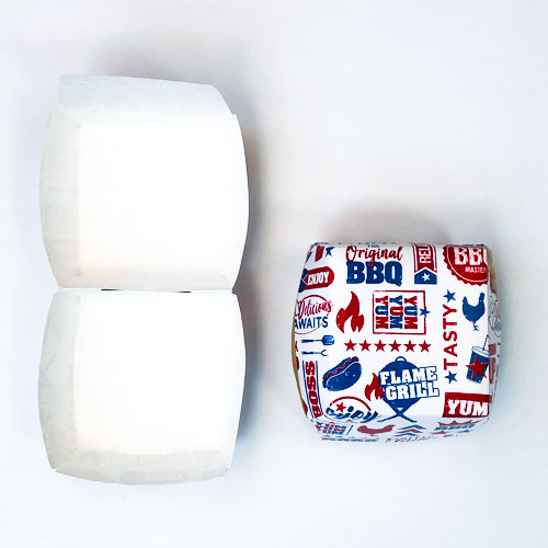 BBQ Burger Paper Boxes - Pack of 6 Product Image