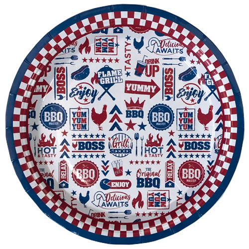 BBQ Paper Plates 23cm - Pack of 6 Product Image