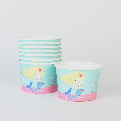 Be A Mermaid Ice Cream Treat Paper Tubs - Pack of 8