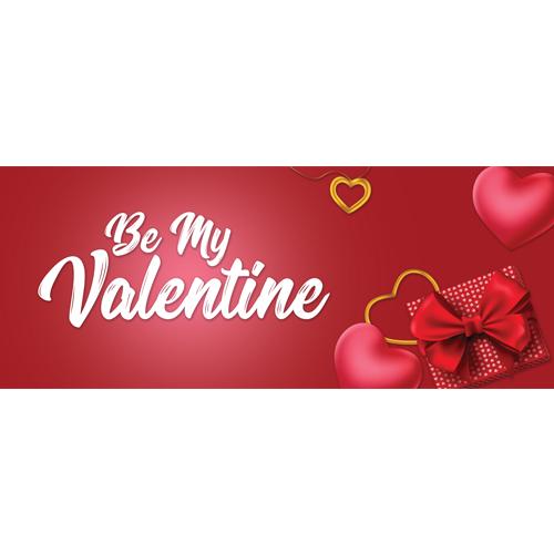 Be My Valentine PVC Party Sign Decoration 60cm x 25cm Product Image