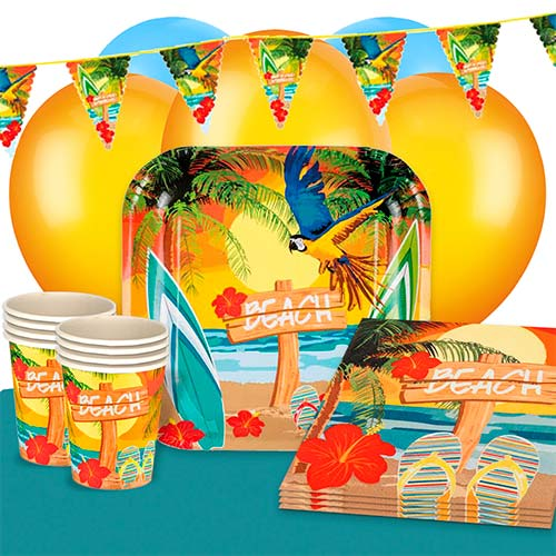 Beach Party 12 Person Deluxe Party Pack