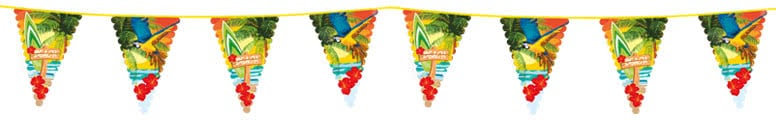 Beach Party Giant Plastic Bunting 6m