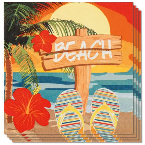 Beach Party Luncheon Napkins 33cm 2Ply - Pack of 12 Product Image
