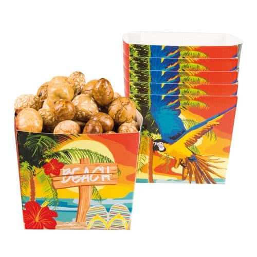 Beach Party Paper Bowls 400ml - Pack of 6