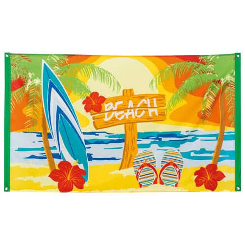 Beach Party Polyester Flag 150cm Product Image