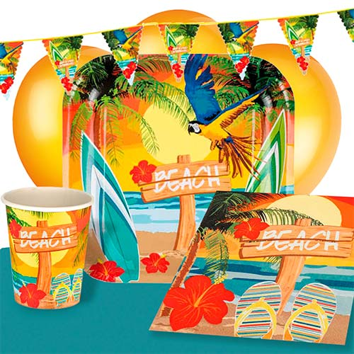 Beach Party 6 Person Deluxe Party Pack