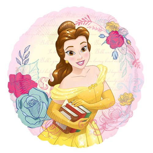 Disney Beauty And The Beast Belle Round Foil Helium Balloon 43cm / 17Inch Product Image