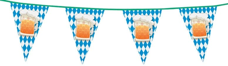 Oktoberfest Beer Party Plastic Bunting 6m Product Image