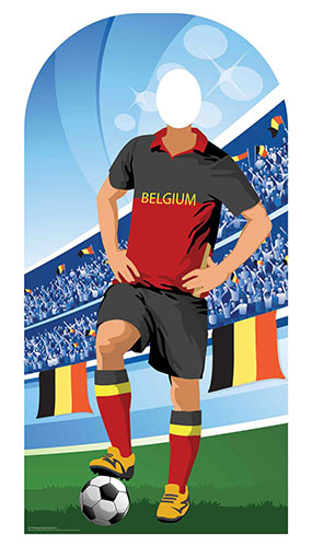 Belgium Football Stand-In Cardboard Cutout 190cm