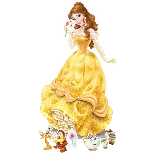 Belle Cardboard Cutouts Decoration Kit  Product Image