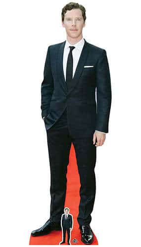 Benedict Cumberbatch White Pocket Square Lifesize Cardboard Cutout 184cm Product Image