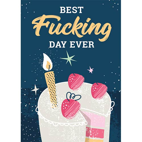 Best Fucking Day Ever Adult A3 Poster PVC Party Sign Decoration 42cm x 30cm Product Gallery Image