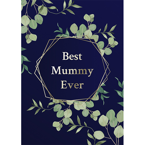 Best Mummy Ever Foliage Mother's Day A3 Poster PVC Party Sign Decoration 42cm x 30cm Product Gallery Image